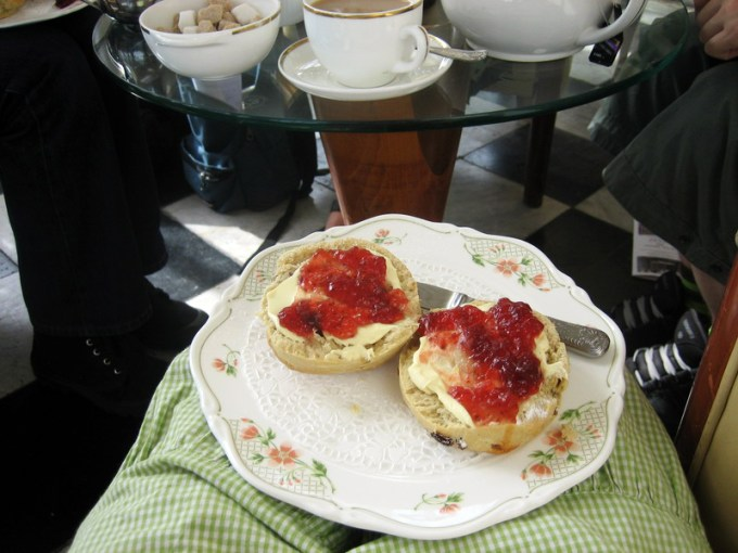 Generous scones from the 'baked goods' menu, The Grand, Folkstone