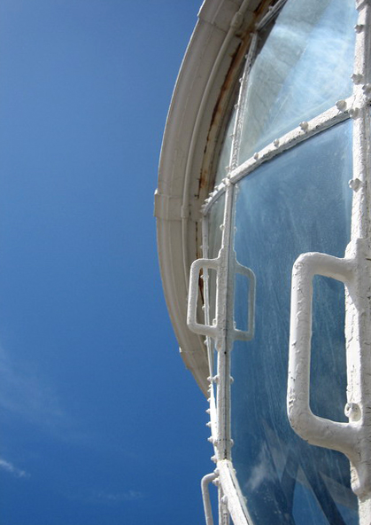 The top of Dungeness Lighthouse