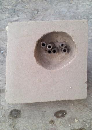 Aluminium tubes and hollow in concrete