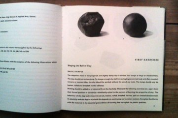 'First exercises - shaping the ball of clay'