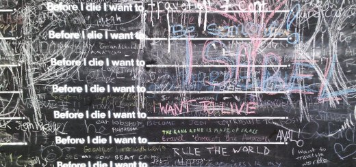 Candy Chang's Before I Die on Borough High Street