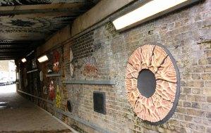 Cambrian Explosion - 7 Bridges public art project Loughborough Junction