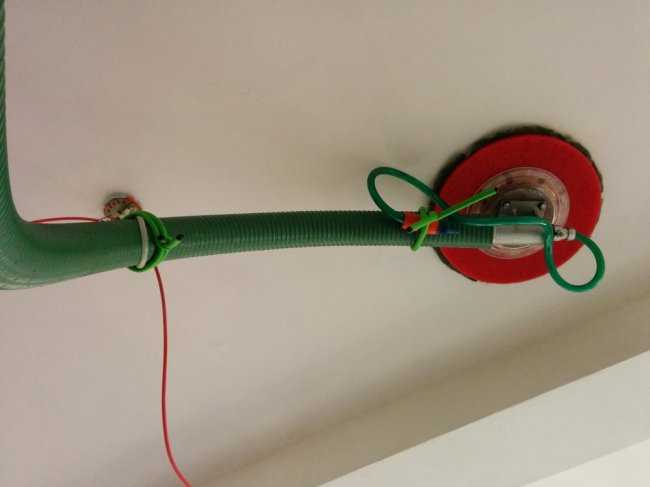 Installation affixing detail