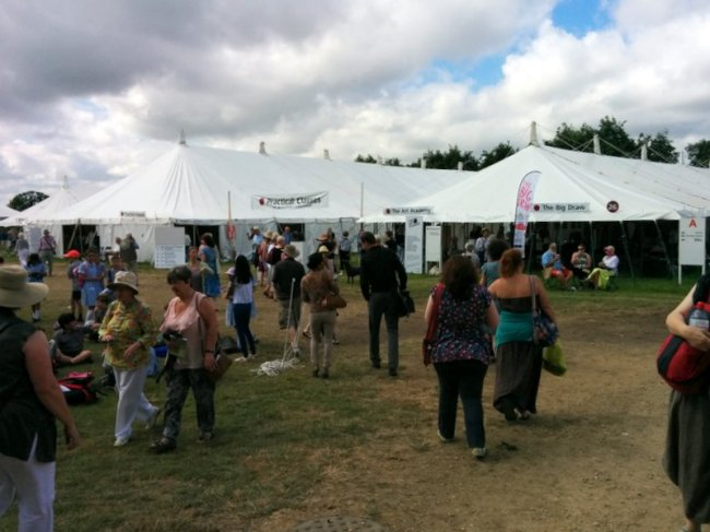 Teaching tents at Art in Action Festival 2014