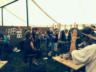 Teaching 'Modelling a portrait head from life' at Art in Action 2014