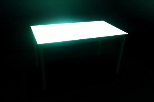 Wood & Harrison's table film; light shadow