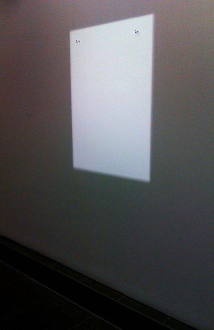 Hans-Peter Feldmann's installation light shadows, Serpentine Gallery