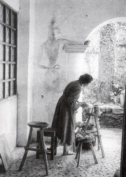 Leonora-Carrington-pintado-en-la-casona-de-Eward-James-en-Xilitla