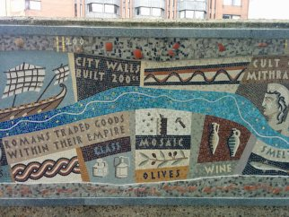 Detail of Queenhithe mosaic: Roman trade