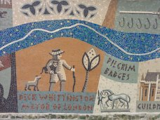 Detail of Queenhithe mosaic: Dick Whittington