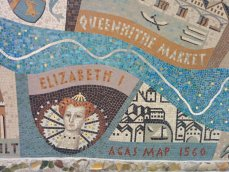 Detail of Queenhithe mosaic: Elizabeth I