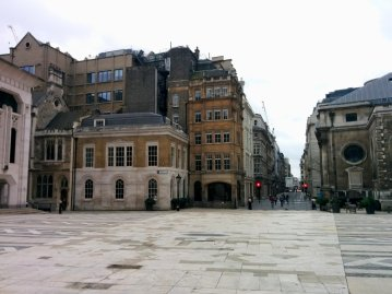 View from Guildhall Yard southwards to Gresham Street