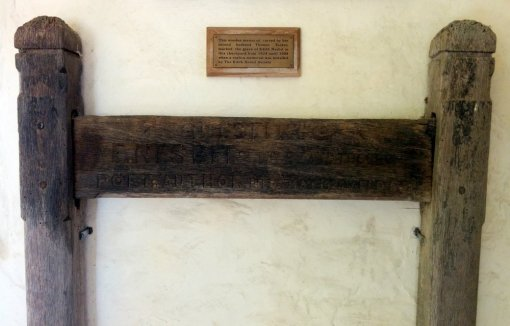 Remains of original memorial to E. Nesbit in St Mary in the Marsh