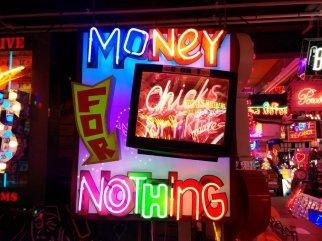 Dire Straits lyrics in neon