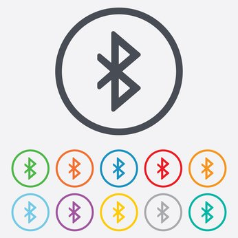 Bluetooth sign icon. Mobile network symbol. Bluetooth Interference