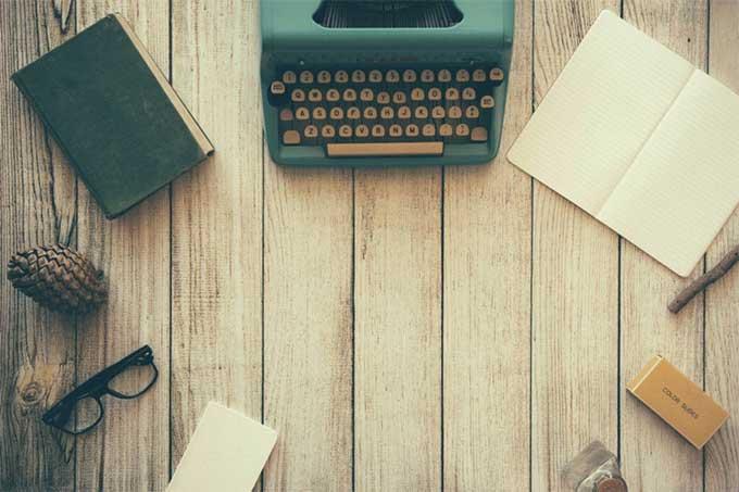 typewriter workspace