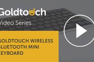 The Goldtouch Wireless Bluetooth Mini Keyboard