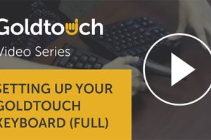 Setting up your Goldtouch keyboard — full video