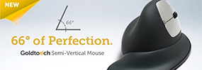 semi-vertical mouse