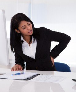 back pain low back pain office woman