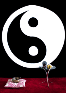 Ying Yang Blk and White Tapestry