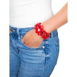 Handmade Coral Flower Cuff Bracelet
