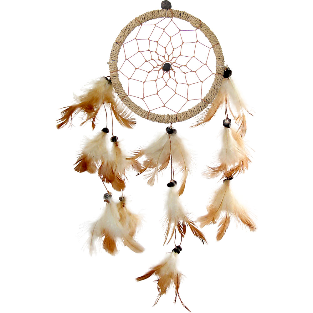 Hand Woven Dreamcatcher With Natural Feathers