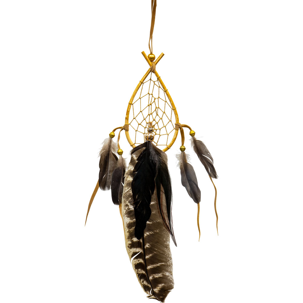 Oval Shaped Dreamcatcher with Natural Feathers
