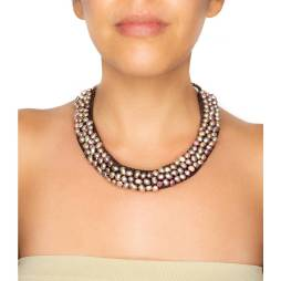Handmade Fresh Water Pearl Woven Collar Necklace