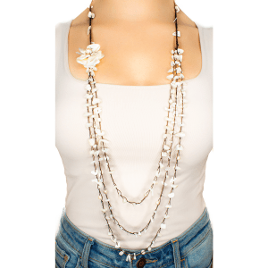 Peal Flower Handmade Strand Necklace