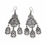 Vintage Drop Silver Plated Earrings - Style 1