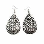 Vintage Drop Silver Plated Earrings - Style 3