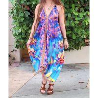 Women Beach Evening Summer Halter Maxi Dresses Free Size - 10205