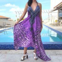 Women Beach Evening Summer Halter Maxi Dresses Free Size - 2005