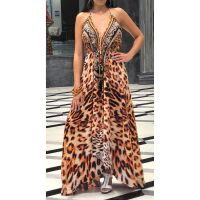 Women Elegant Halter Long Maxi Dresses/Cover Up Free Size - HAWAII Dress 633