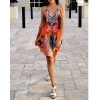 Women Beach Evening Summer Halter Midi Dresses Free Size - SD-2530