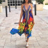Women Beach Evening Summer Halter Maxi Dresses Free Size - SD-2555