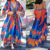 Women Elegant Halter Long Maxi Dresses/Cover Up Free Size - HAWAII Duster 654
