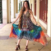 Women Beach Evening Summer Halter Maxi Dresses Free Size - SD-2024