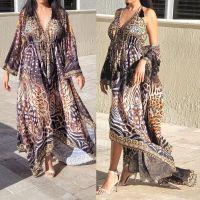 Women Elegant Halter Long Maxi Dresses/Cover Up Free Size - VRSTYL Duster 680