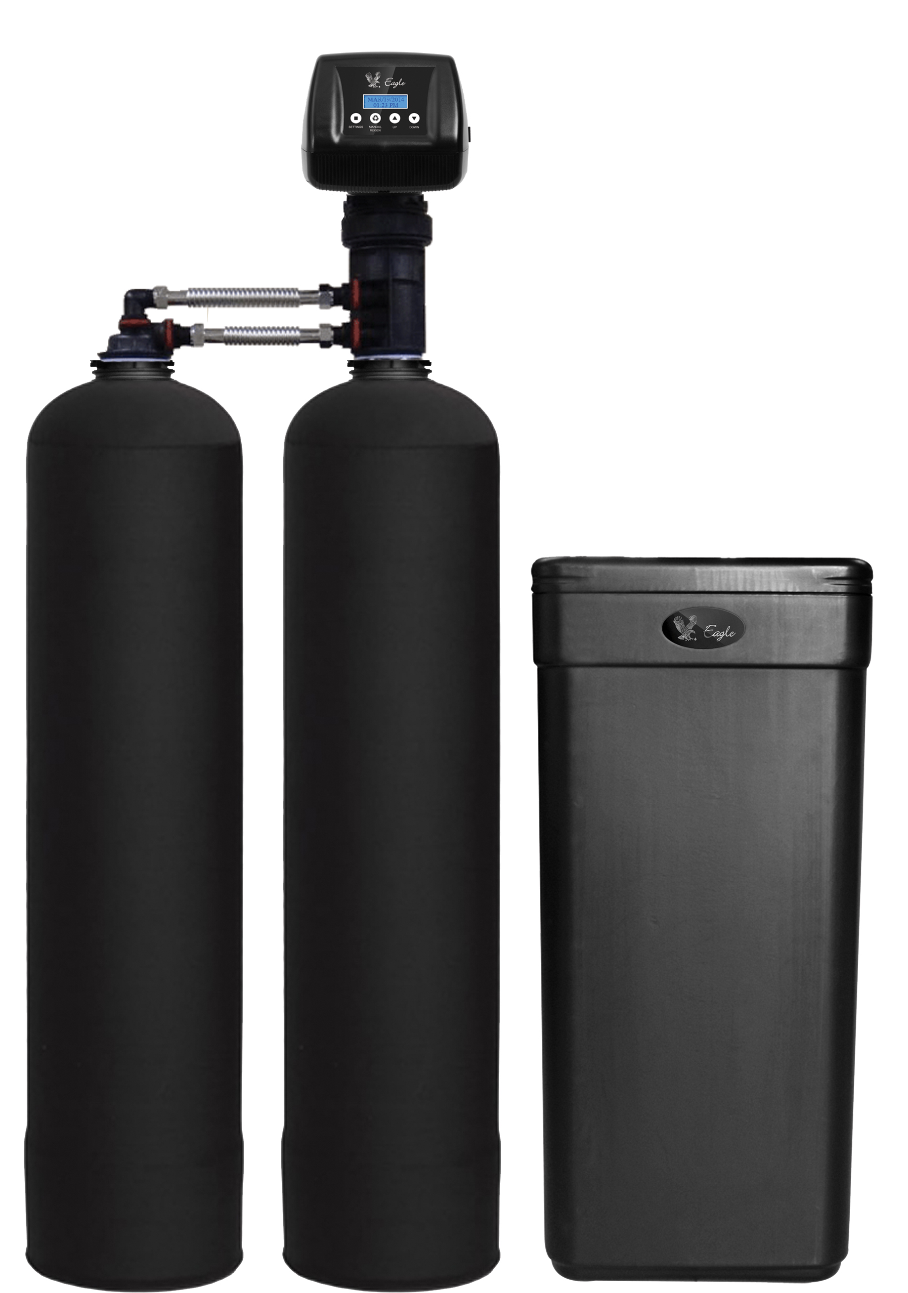 Eagle Platinum Twin Tank water treatment system from Gold Water Groupin Ontario Canada.