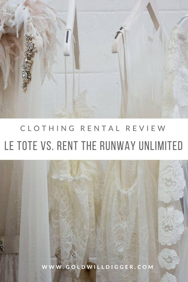 Clothing Rental Review: Le Tote vs. Rent the Runway Unlimited