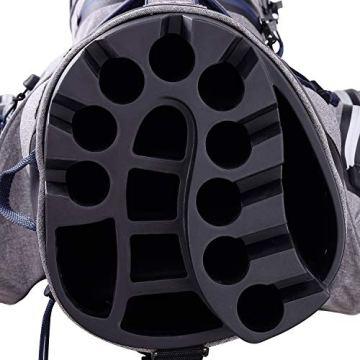 Big Max Aqua Silencio 3 Golf Cartbag 2020-100% wasserdichte Golftasche (Black) - 2