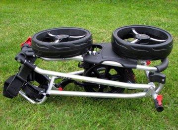 Bullet Golfwagen 5000 Professional, klappbar mit mit leicht-klick-System Silber für Golftaschen/Golfbags - 6