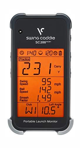 Voice Caddie SC200+ Launch-Monitor Swing-Analyse, Unisex, Schwarz, Einheitsgröße - 1
