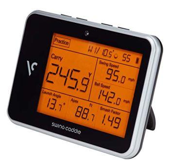 Voice Caddie Unisex– Erwachsene Swing Caddie LUNTER Monitor SC300 Tragbarer startenmonitor, SCHWARZ, One Size - 4
