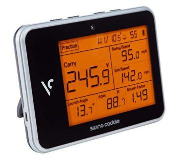 Voice Caddie Unisex– Erwachsene Swing Caddie LUNTER Monitor SC300 Tragbarer startenmonitor, SCHWARZ, One Size - 1