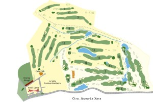 Map of La Sella Golf Course