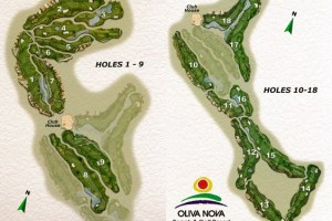 Oliva Nova Golf Course Map