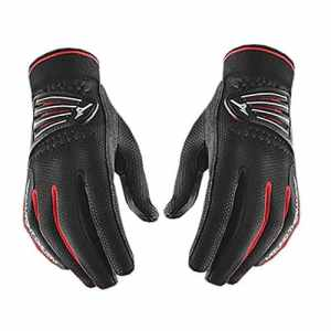 2015 Ladies Mizuno ThermaGrip Winter Playing Golf Windproof/Thermal Gloves -PAIR Black Small